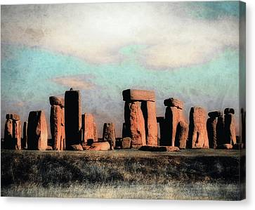 Canvas Print featuring the photograph Mysterious Stonehenge by Jim Hill