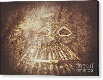 Hidden Face Canvas Print - Mysterious Vintage Masquerade by Jorgo Photography - Wall Art Gallery