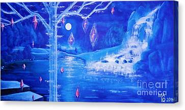 Inner World Canvas Print - Mystery At Moonlight 3 Series by Mario Lorenz