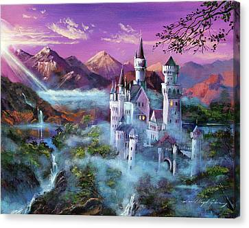 Mystery Castle Canvas Print by David Lloyd Glover