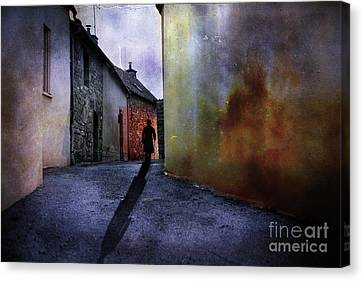 Canvas Print featuring the mixed media Mystery Corner by Jim  Hatch
