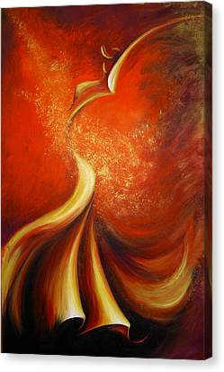 Canvas Print featuring the painting Mystery Dance by Dina Dargo