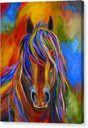 Mystery Horse Canvas Print by Mary Jo Zorad