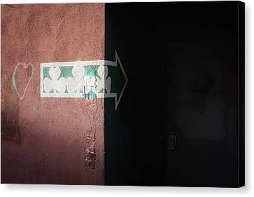Canvas Print featuring the photograph Mystery In The Doorway by Monte Stevens