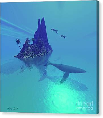 Mystery Island Canvas Print by Corey Ford