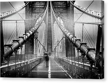 Mystery Manhattan Canvas Print by Az Jackson