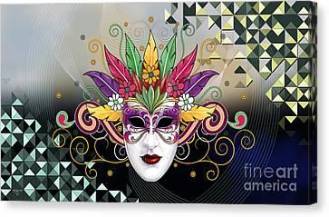 Mystery Mask Canvas Print by Bedros Awak