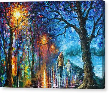 Mystery Of The Night Canvas Print by Leonid Afremov