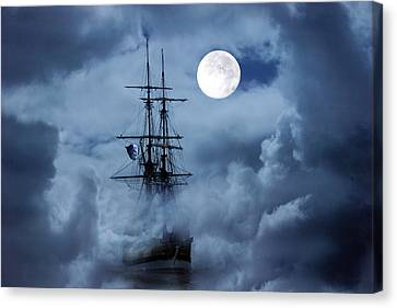 Mystery Ship Canvas Print by Stephanie Laird