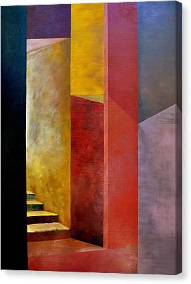 Corridor Canvas Print - Mystery Stairway by Michelle Calkins