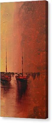 Mystic Bay Triptych 3 Of 3 Canvas Print