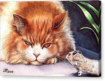 Mystic Cat Canvas Print by Larissa Prince