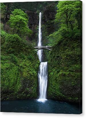 Waterfalls Canvas Print - Mystic Falls by Larry Marshall