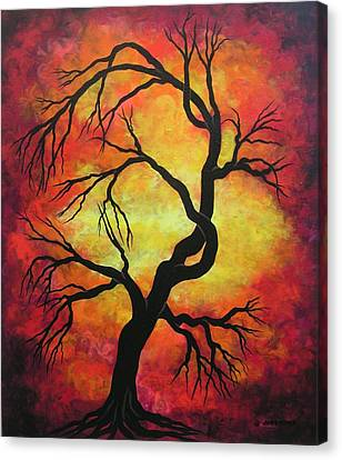 Mystic Firestorm Canvas Print by Jordanka Yaretz