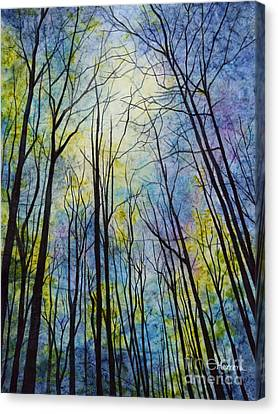 Canvas Print featuring the painting Mystic Forest by Hailey E Herrera