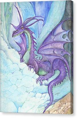 Mystic Ice Palace Dragon Canvas Print by Morgan Fitzsimons