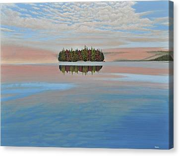 Canvas Print featuring the painting Mystic Island by Kenneth M  Kirsch