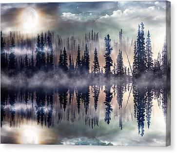 Mystic Lake Canvas Print by Gabriella Weninger - David