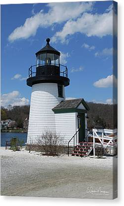 Mystic Lighthouse Canvas Print by Gordon Mooneyhan