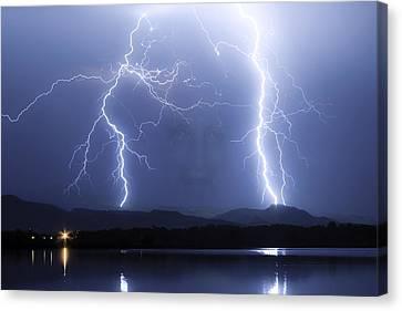 Mystic Lightning Storm Canvas Print