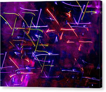 Canvas Print featuring the digital art Mystic Lights 8 by Donna Corless