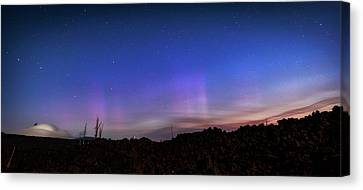 Canvas Print featuring the photograph Mystic Lights by Cat Connor