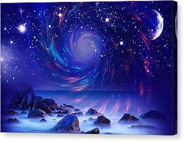Mystic Lights Canvas Print by Gabriella Weninger - David