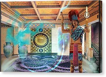 Atlantis Canvas Print - Mystic Man Of Atlantis 40,000 B.c. by Phillip Strunk