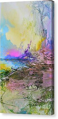 Canvas Print featuring the painting Mystic Rendevous by Mary Sullivan