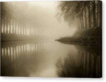 Mystic River Canvas Print by Martin Podt