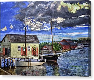 Mystic Seaport Ct Canvas Print by Stuart B Yaeger