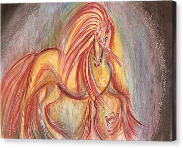 Dancing Abstract Horse Canvas Print by Remy Francis