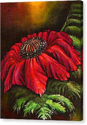 Mystical Fern Flower Red Version Canvas Print