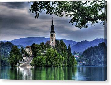 Mystical Lake Bled Canvas Print