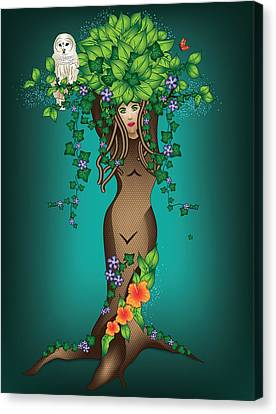 Mystical Maiden Tree Canvas Print