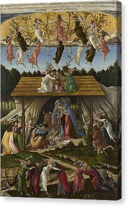 Mystical Nativity Canvas Print by Sandro Botticelli