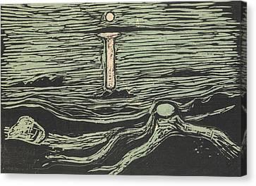 Mystical Shore Canvas Print by Edvard Munch