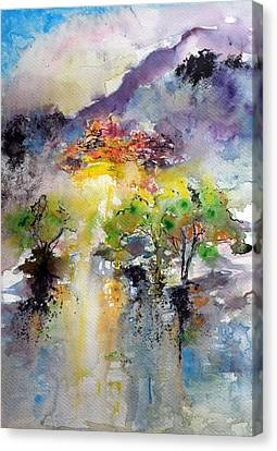 Mystical  Village Canvas Print by Kovacs Anna Brigitta