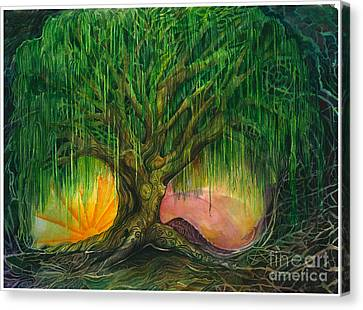 Mystical Willow Canvas Print by Colleen Koziara