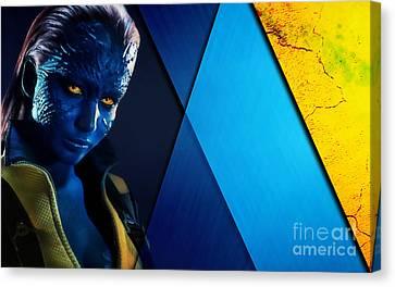 X Men Canvas Print - Mystique Collection by Marvin Blaine