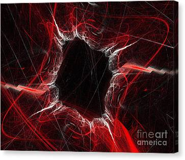 Mystry Through The Black Hole Canvas Print by Andee Design