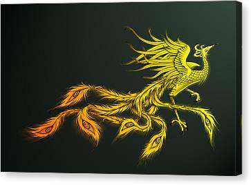 Myths Ablaze Canvas Print by Simon Sturge