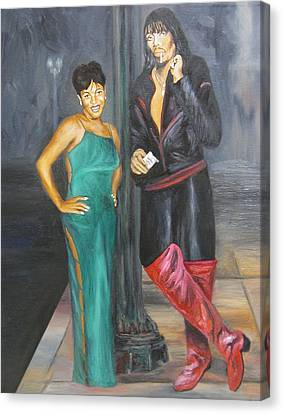 Mz Thang And Rick James Canvas Print