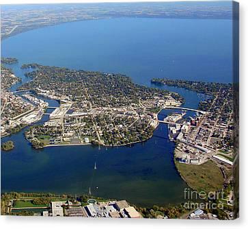 N-003 Neenah Wisconsin Lake Winnebago Canvas Print