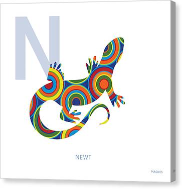 Newts Canvas Print - N Is For Newt by Ron Magnes