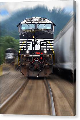 N S 8089 On The Move Canvas Print