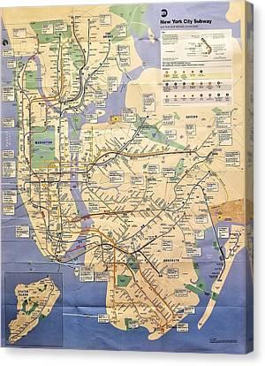 N Y C Subway Map Canvas Print