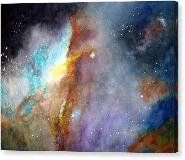 Canvas Print featuring the painting N11b Large Magellanic Cloud by Allison Ashton