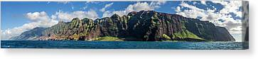 Na Pali Coast Panoramic Canvas Print