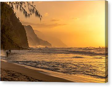 Na Pali Coast Sunset Canvas Print